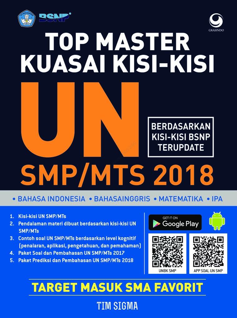 Buku Digital Top Master Kuasai Kisi-Kisi UN SMP/MTs 2018 oleh Tim Sigma