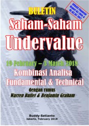 Cover Buletin Saham-Saham Undervalue 19-03 March 2018 - Kombinasi Fundamental & Technical Analysis oleh Buddy Setianto