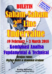 Cover Buletin Saham-Saham 2nd Line Undervalue 19-03 March 2018 - Kombinasi Fundamental & Technical Analysis oleh Buddy Setianto