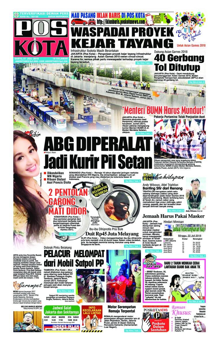 Pos Kota Digital Newspaper 21 July 2018