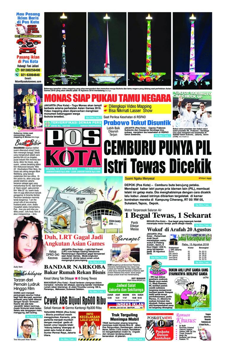 Koran Digital Pos Kota 14 Agustus 2018