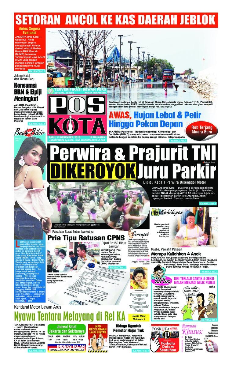 Koran Digital Pos Kota 12 Desember 2018