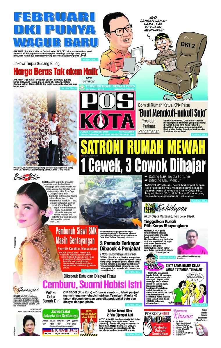 Koran Digital Pos Kota 11 Januari 2019