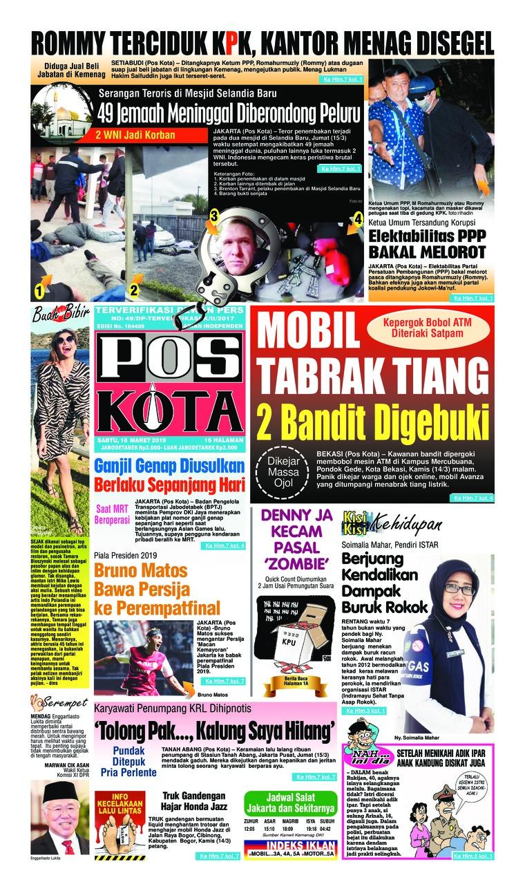 Koran Digital Pos Kota 16 Maret 2019