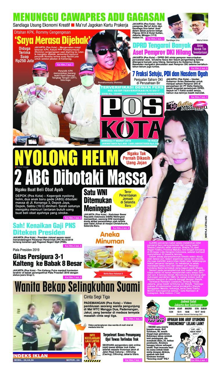 Koran Digital Pos Kota 17 Maret 2019