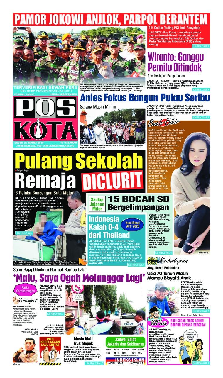 Pos Kota Digital Newspaper 23 March 2019