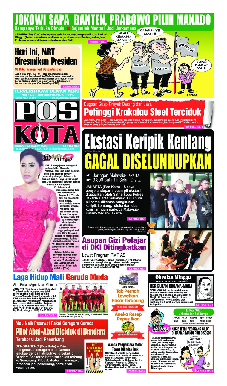Pos Kota Digital Newspaper 24 March 2019