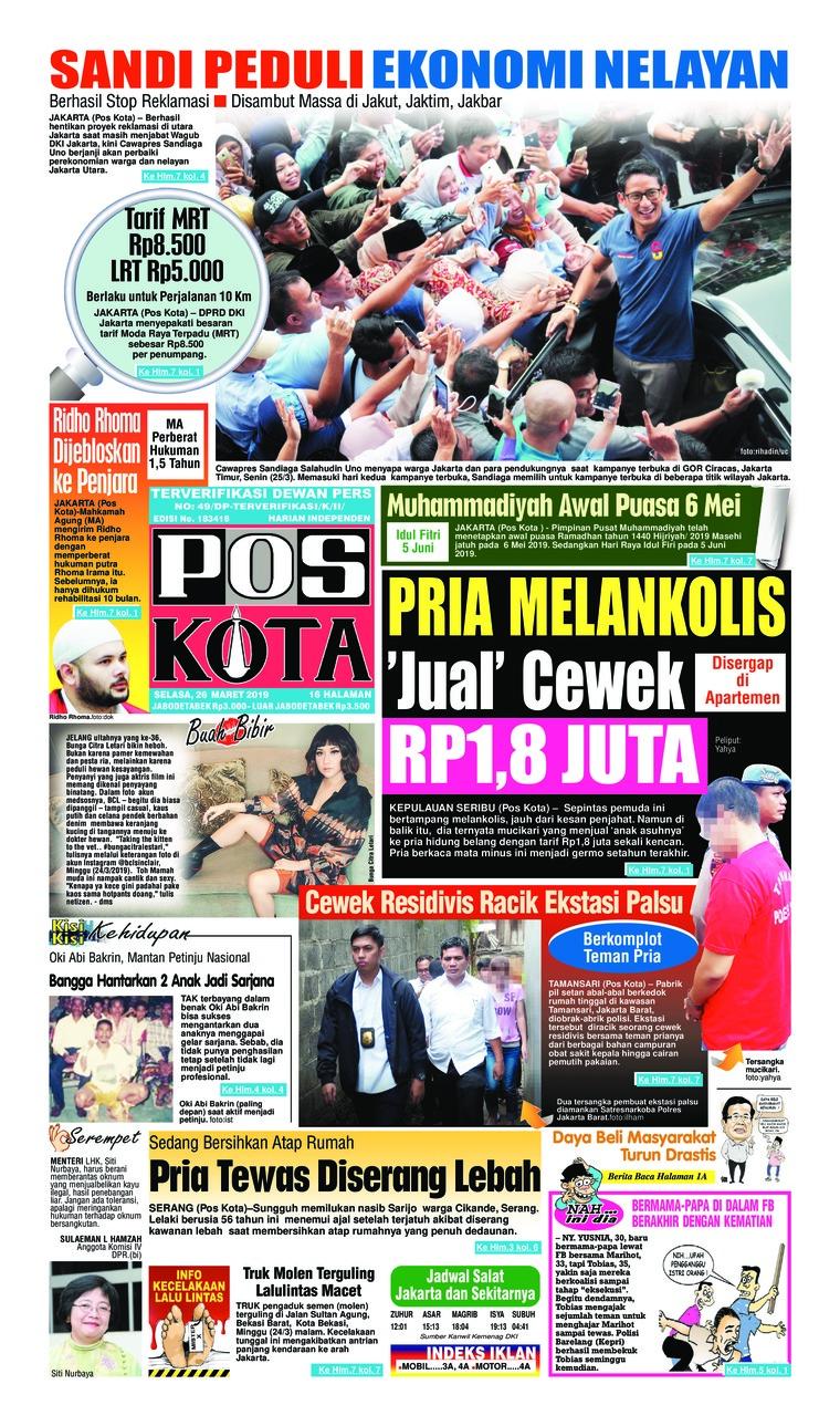 Pos Kota Digital Newspaper 26 March 2019