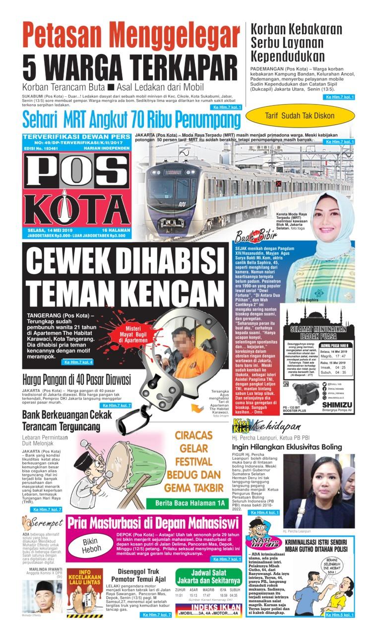 Pos Kota Digital Newspaper 14 May 2019