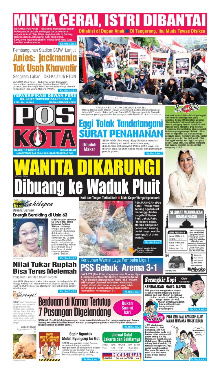 Pos Kota Digital Newspaper 16 May 2019