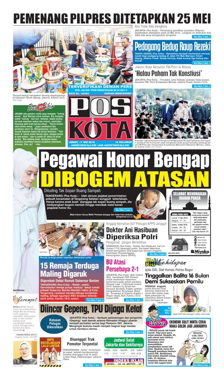 Pos Kota Digital Newspaper 17 May 2019