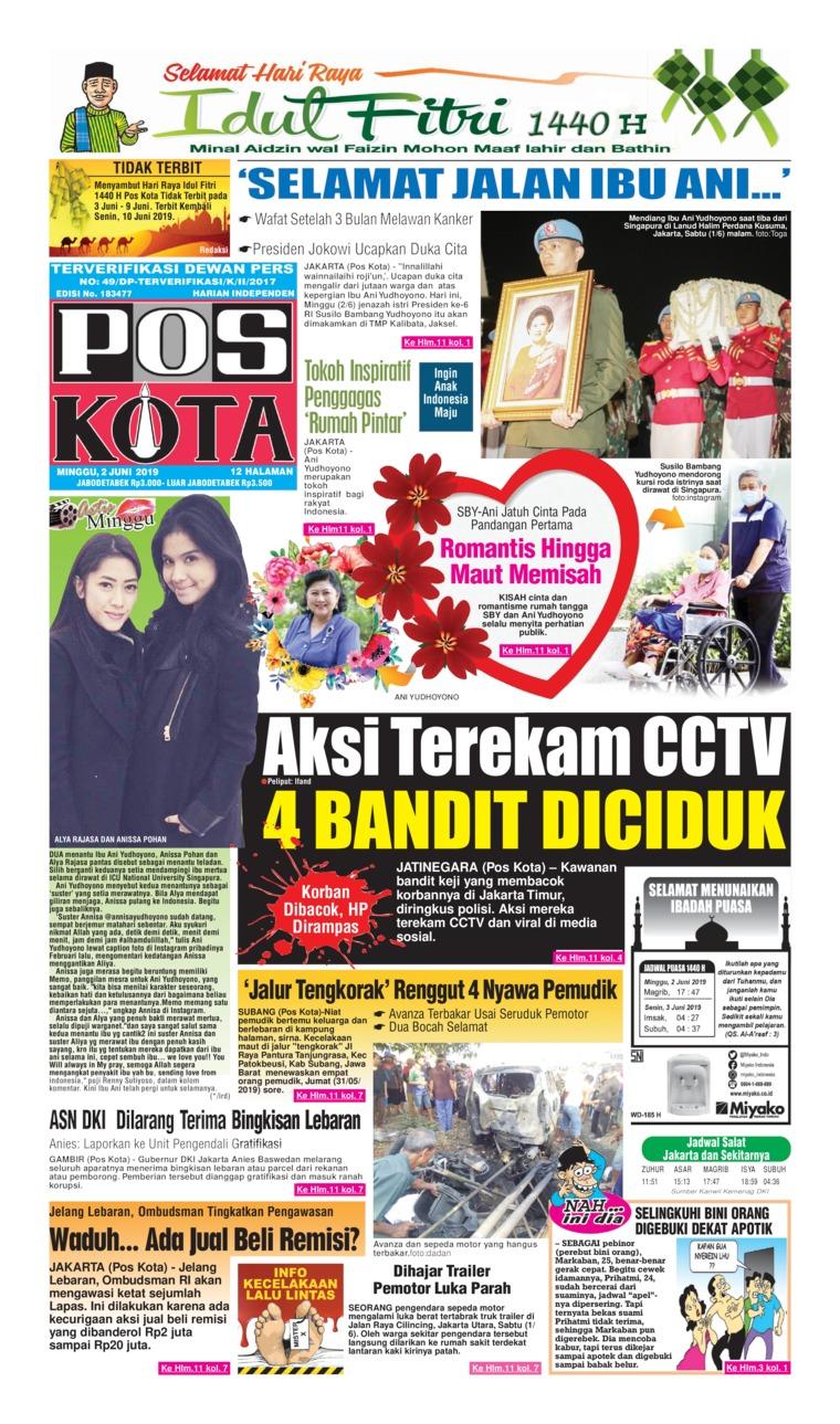Koran Digital Pos Kota 02 Juni 2019