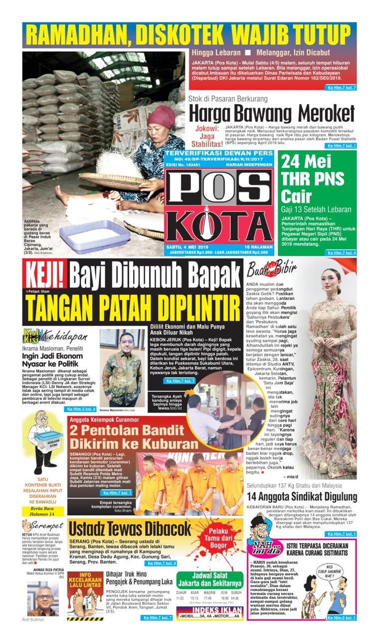 Koran Digital Pos Kota 04 Juni 2019