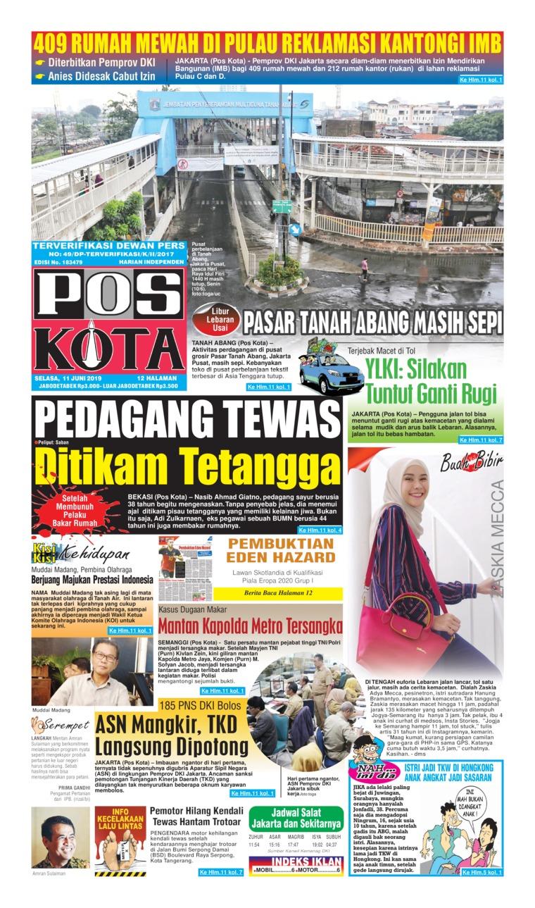 Koran Digital Pos Kota 11 Juni 2019