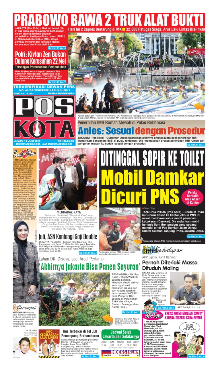 Pos Kota Digital Newspaper 14 June 2019