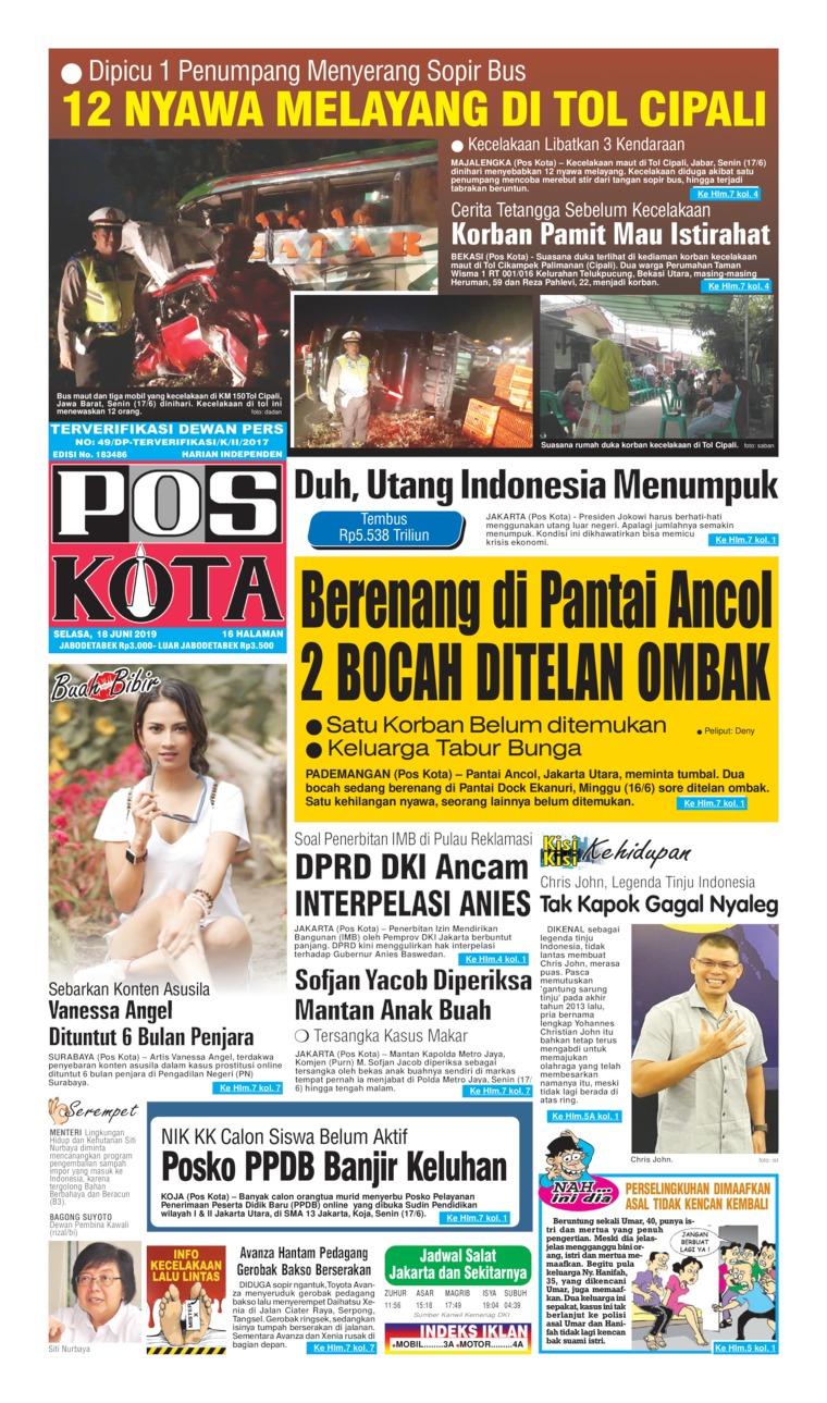 Koran Digital Pos Kota 18 Juni 2019