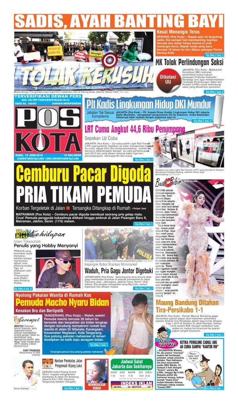 Koran Digital Pos Kota 19 Juni 2019