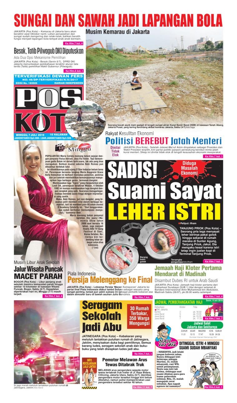 Koran Digital Pos Kota 07 Juli 2019
