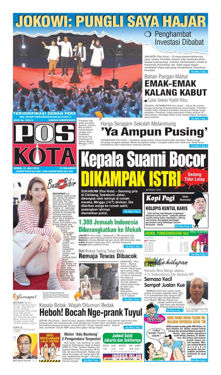 Koran Digital Pos Kota 15 Juli 2019