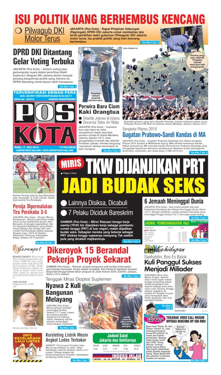 Pos Kota Digital Newspaper 17 July 2019