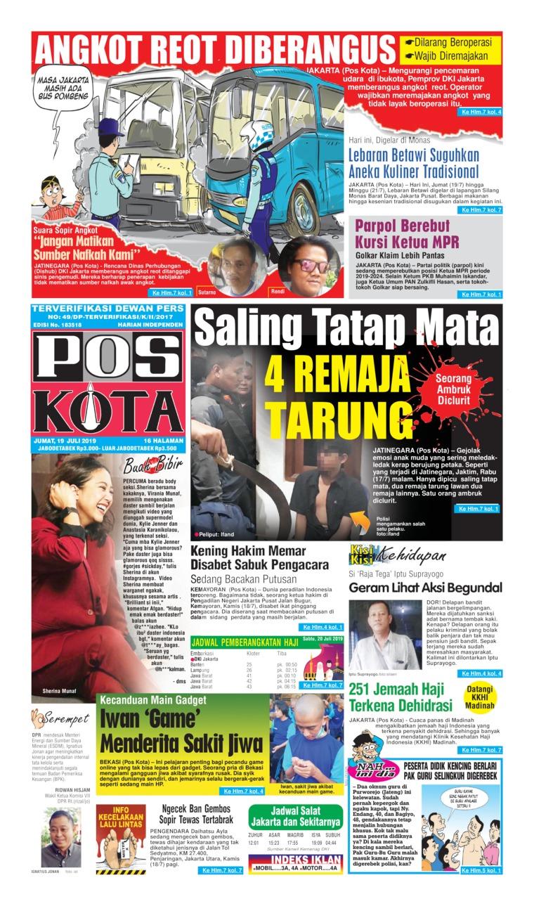 Pos Kota Digital Newspaper 19 July 2019