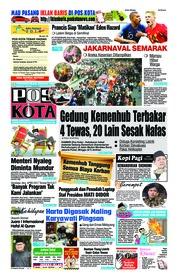 Cover Pos Kota 09 Juli 2018