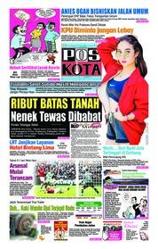 Cover Pos Kota 13 Januari 2019