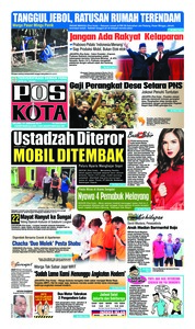 Cover Pos Kota 15 Januari 2019