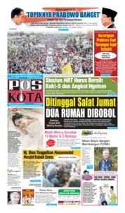Cover Pos Kota 30 Maret 2019