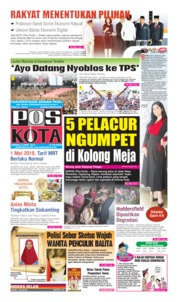 Cover Pos Kota 14 April 2019