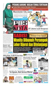 Cover Pos Kota 13 Mei 2019