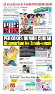 Cover Pos Kota 08 Juli 2019