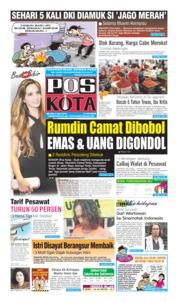 Cover Pos Kota 09 Juli 2019