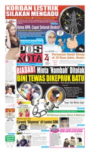 Cover Pos Kota 07 Agustus 2019