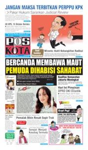 Cover Pos Kota 14 Oktober 2019
