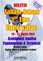 Cover Buletin Saham-Saham 2nd Line Undervalue 19-31 March 2018 - Kombinasi Fundamental & Technical Analysis oleh Buddy Setianto