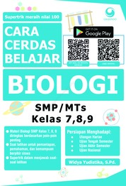Cara Cerdas Belajar Biologi SMP/MTs Kelas 7, 8, 9 by Widya Yustika, S.Pd. Cover