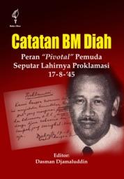 Cover Catatan B.M. Diah oleh Dasman Djamaluddin