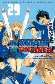 Cover The Knight In The Area 29 oleh Hiroaki Igano / Kaya Tsukiyama