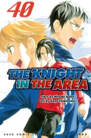 Cover The Knight In The Area 40 oleh Hiroaki Igano / Kaya Tsukiyama