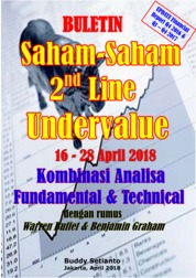 Cover Buletin Saham-Saham 2nd Line Undervalue 16-28 April 2018 - Kombinasi Fundamental & Technical Analysis oleh Buddy Setianto