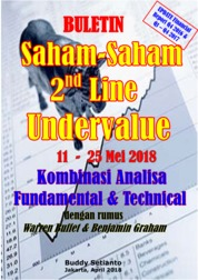 Cover Buletin Saham-Saham 2nd Line Undervalue 11-25 Mei 2018 - Kombinasi Fundamental & Technical Analysis oleh Buddy Setianto