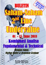 Cover Buletin Saham-Saham 2nd Line Undervalue 01-15 JUN 2018 - Kombinasi Fundamental & Technical Analysis oleh Buddy Setianto