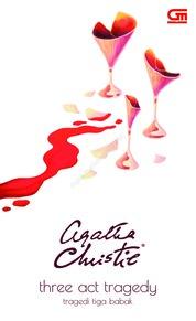 Cover Tragedi Tiga Babak (Three Act Tragedy) oleh Agatha Christie