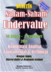 Cover Buletin Saham-Saham Undervalue 20-01 SEP 2018 - Kombinasi Fundamental & Technical Analysis oleh Buddy Setianto