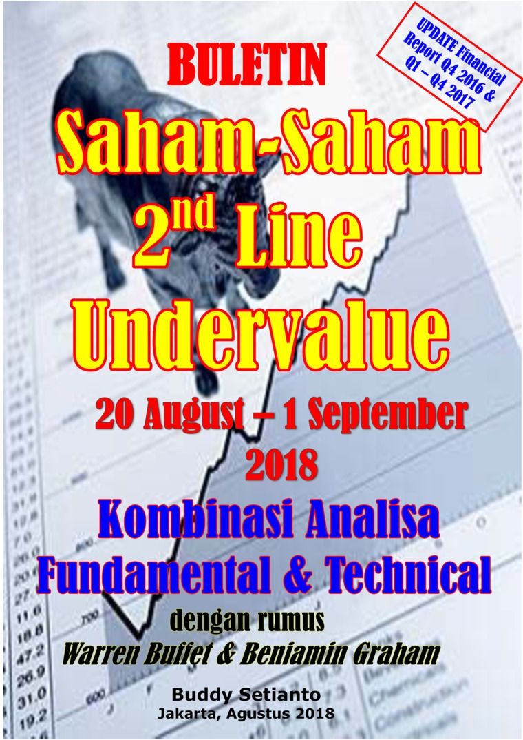 Buletin Saham-Saham 2nd Line Undervalue 20-01 SEP 2018 - Kombinasi Fundamental & Technical Analysis by Buddy Setianto Digital Book
