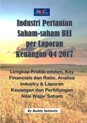 Industri Pertanian Saham-saham BEI per Laporan Keuangan Q4 2017 by Buddy Setianto Cover