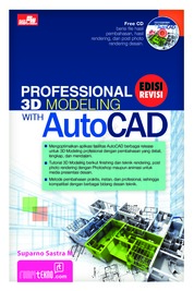 Cover Professional 3D Modeling With AutoCAD oleh Suparno Sastra M.