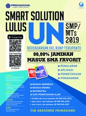 Primagama Smart Solution UN SMP/MTs 2019 by Tim Akademik Primagama Cover