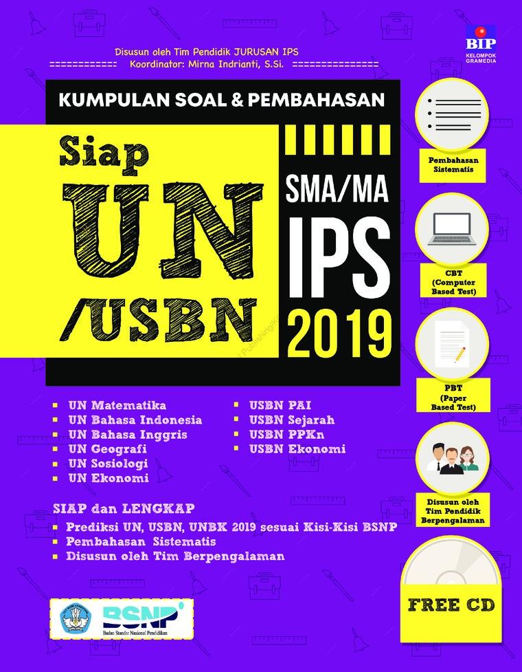 Buku Digital Kumpulan Soal & Pembahasan Siap UN/USBN/UNBK SMA/MA IPS 2019 oleh Tim Pendidik IPS